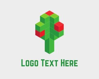 Pixel - Digital Tree logo design