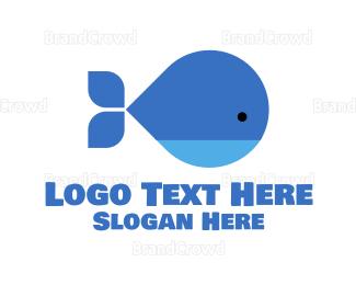 Infant - Blue Cute Whale logo design