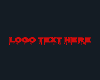 Killer - Bloody Horror Wordmark logo design