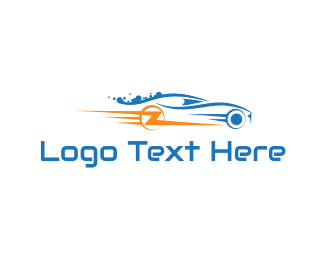 Sports Car - Lightning Car logo design