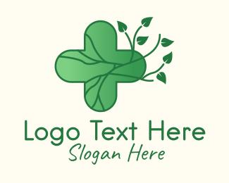 Root - Herbal Medicinal Cross logo design