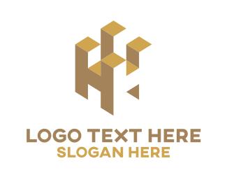 Letter H - Tower Letter logo design