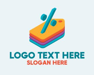 Pricing - Percent Discount Tags logo design