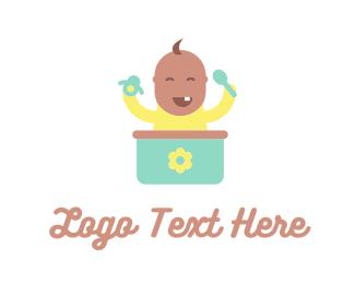 Baseball Hat - Cute Baby logo design