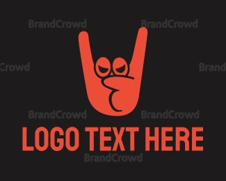 Hand - Rock Hand logo design