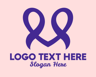 Ribbons - Purple Heart Ribbons logo design