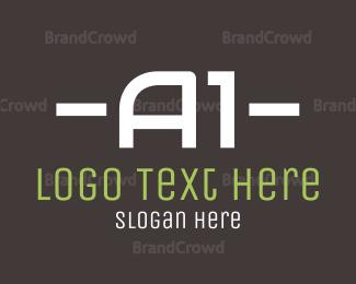 Hire - A1 Text logo design