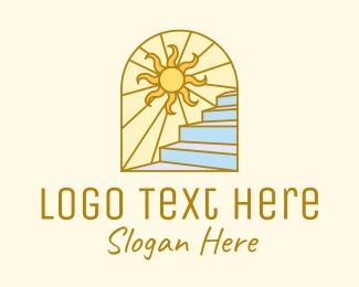 Class - Sunrise Staircase Scenic logo design