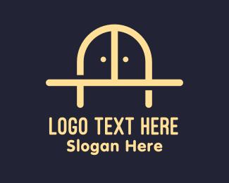 Furniture Shop - Golden Bridge Furniture logo design