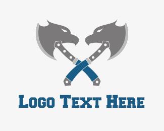 Axe - Eagle Axe logo design