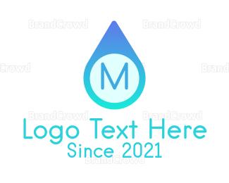 Aqua - Blue Water Droplet logo design