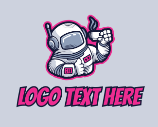 Space - Space Astronaut Coffee logo design