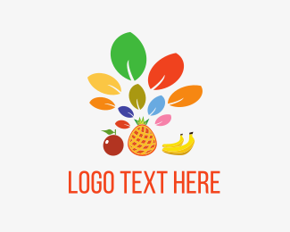 Yogurt - Fruit Leaves logo design