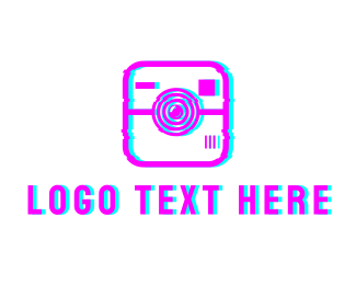 Social Media - Glitch Instagram Photography logo design