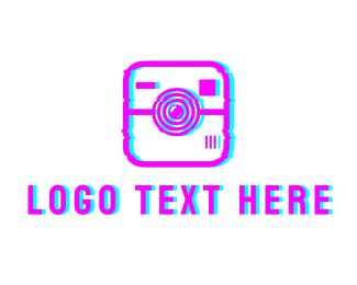Instagram - Glitch Instagram Photography logo design