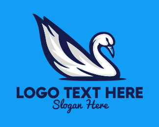 Birdwatching - White Swan logo design