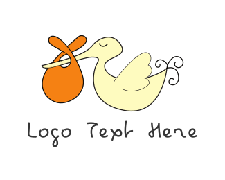 Mother - Stork & Baby logo design