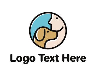 Beagle - Dog & Man logo design