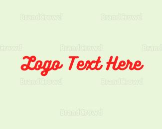 Calligraphic - Curvy  & Red logo design