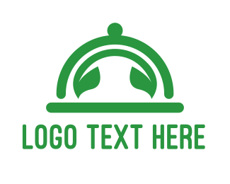 Buffet - Green Leaf Cloche  logo design