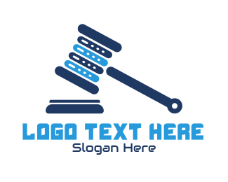 Judiciary - Legal Tech logo design