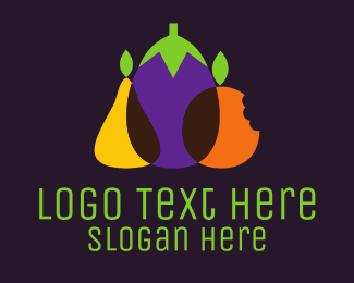 Eggplant - Fruit & Vegetables logo design