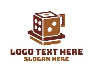 Dice - Lucky Dice Mug Cup logo design