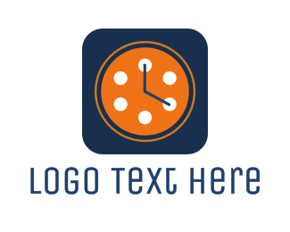 Clock - Film Reel Clock logo design