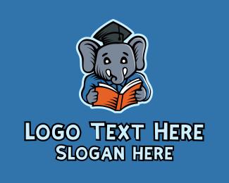Learning - Learning Elephant Graduate logo design