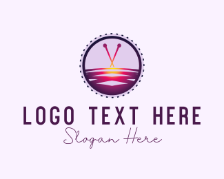 Knit - Cross Stitch logo design