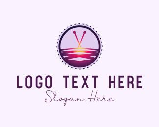 Needlework - Cross Stitch logo design