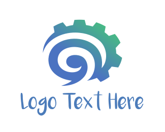 Cogwheel - Industrial Chat logo design