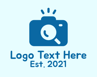 Searching - Blue Detective Camera  logo design
