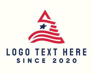 Patriotism - Patriotic Letter A logo design