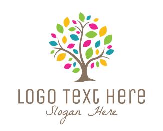 """Multicolor Tree"" by LogoBrainstorm"