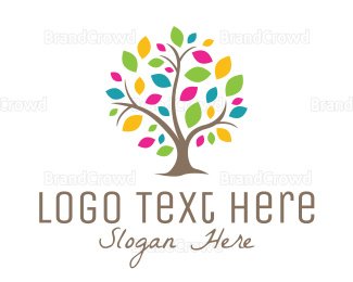 Autumn - Multicolor Tree logo design