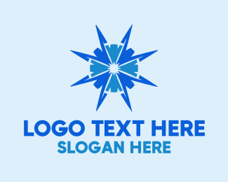 Snowflake - Abstract Snowflake  logo design