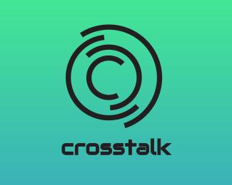 Random Abstract Disc C logo design