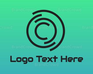 Cd - Abstract Disc C logo design