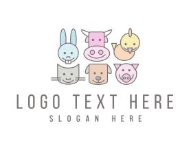 Puppy - Farm Animals logo design