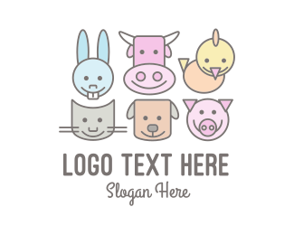 Animals - Cute Farm Animals logo design