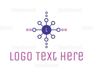 Cyber - Decorative Circle Lettermark logo design
