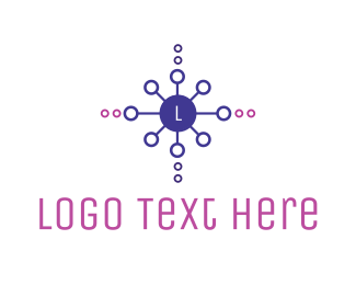 Purple Circle - Generic Circle Network Letter logo design