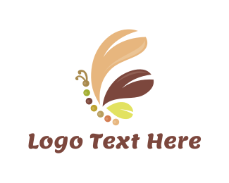 Brown - Brown Butterfly logo design