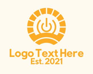 Power - Orange Solar Power logo design