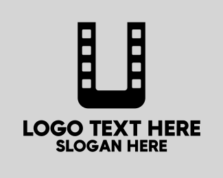 Roll - Film Letter U  logo design