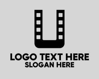 Actor - Film Letter U logo design