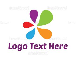 Enamel - Colorful Paint Splash logo design
