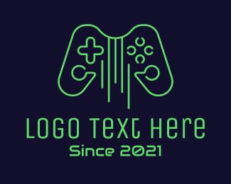 Controller Pad - Guitar String Game Controller logo design