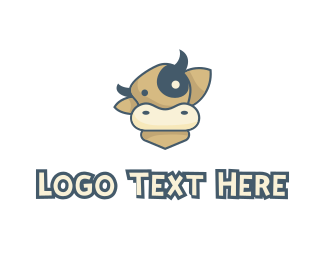 Dairy - Cartoon Cow logo design